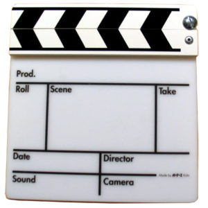 Filmklappe klein Gegenlicht Kunststoff